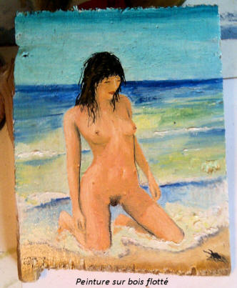 nude alone in the beach